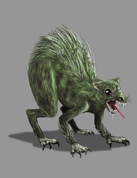 Concept art for the Chupacabra from Legend Trippers